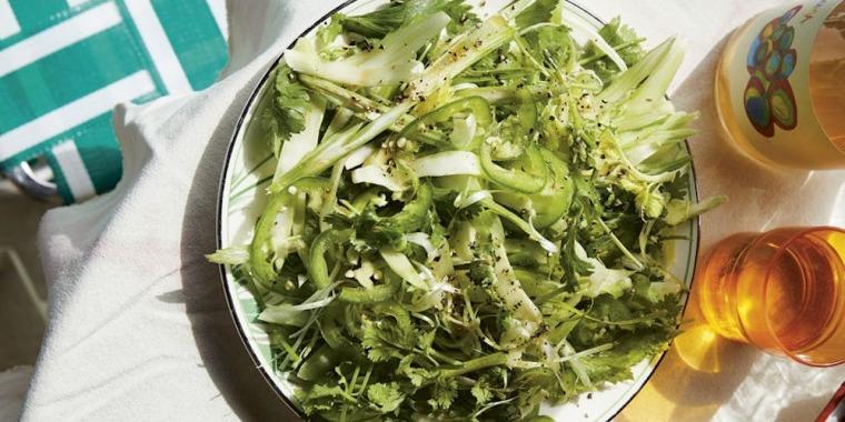 Celery Salad with Cilantro and Sesame