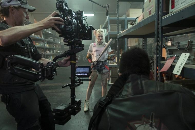 "Margot Robbie on the set of ""Birds of Prey."""