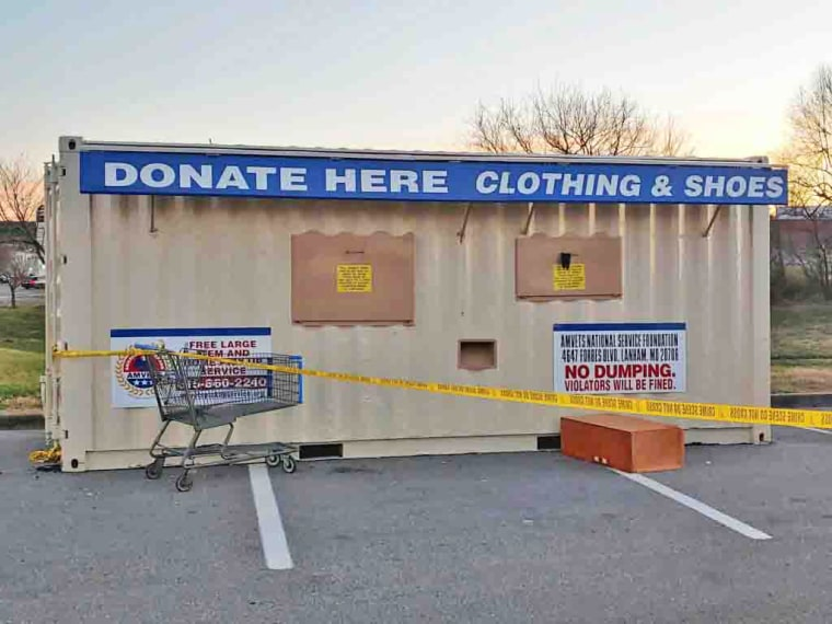 A man died after getting stuck in a donation bin outside a Tennessee Walmart.