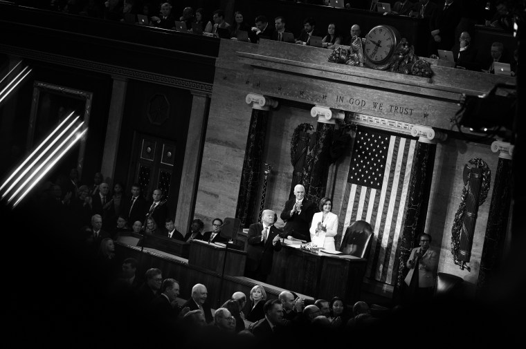 Trump never mentioned impeachment or Iowa. But his State of the Union was an 80-minute victory lap.