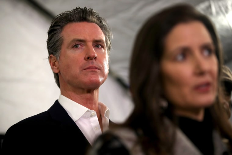 Image: California Governor Gavin Newsom And Oakland Mayor Libby Schaaf