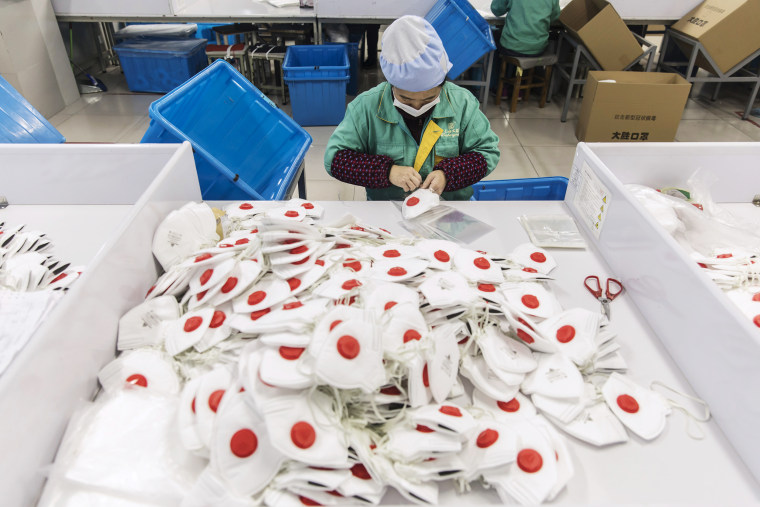 Production at Dasheng Masks as Virus Outbreak Triggers a Global Run on Face Masks
