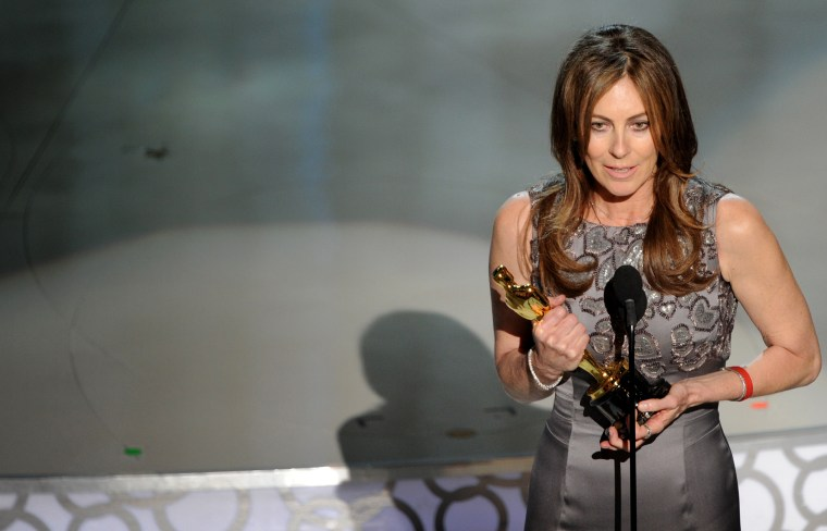 "Image: Kathryn Bigelow accepts the Best Director award for ""The Hurt Locker"" at the Academy Awards on March 7, 2010."