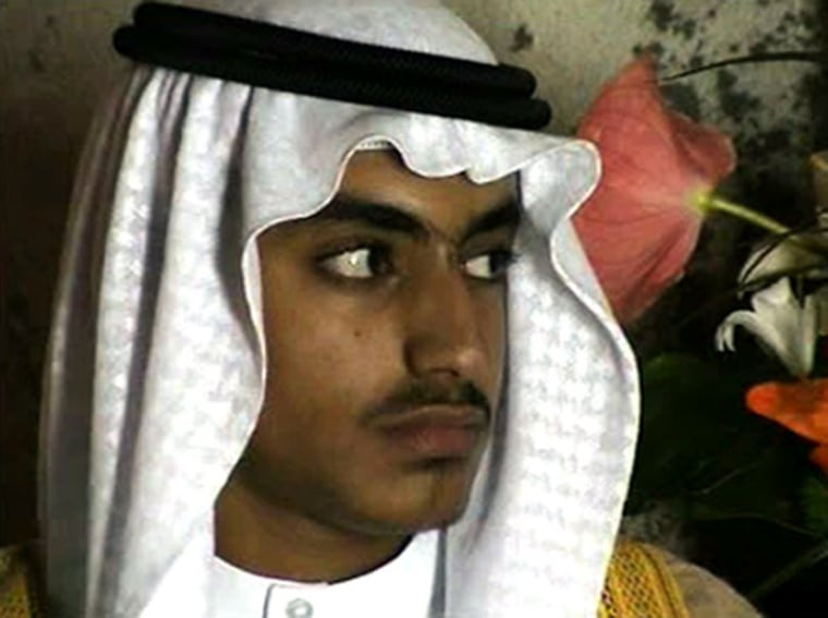 Image: Hamza Bin Laden in a video released by the CIA in 2017.