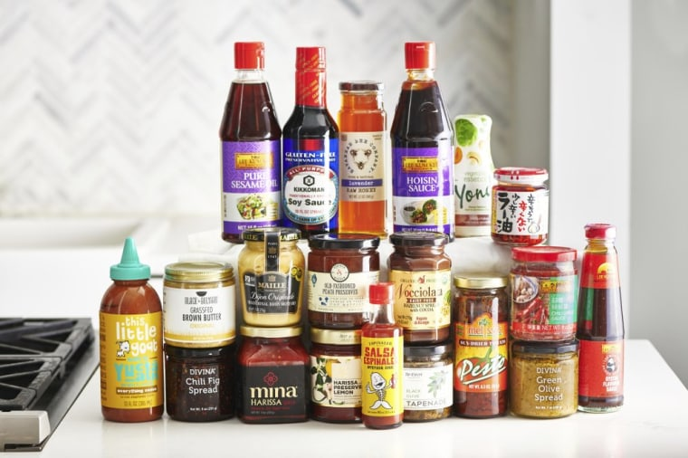 To give your recipe repertoire a boost, pick up a few new condiments such as oyster sauce, Sriracha sauce, and a some fun preserves.