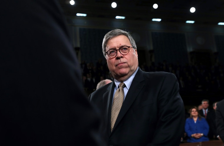 Image: Attorney General William Barr arrives to the State of the Union address on Feb. 4, 2020.