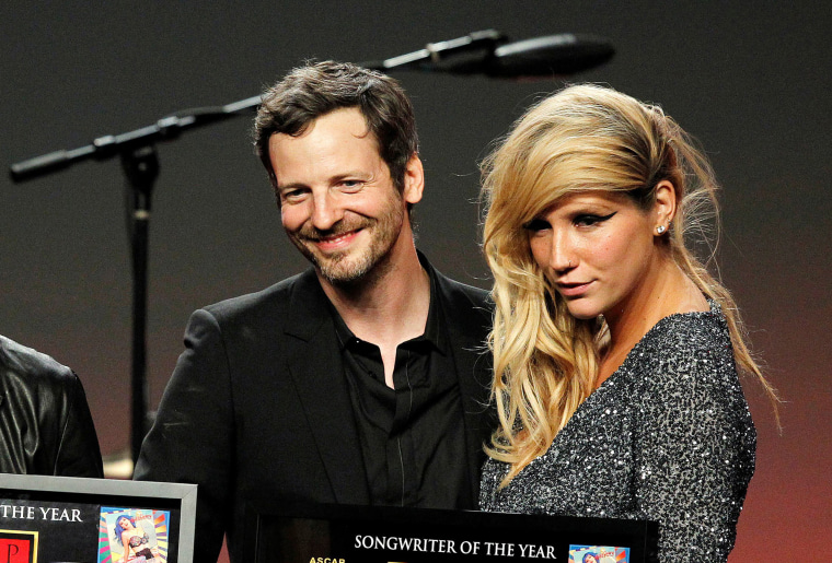 Image: Songwriter Lukasz Gottwald, better known as Dr. Luke, and Kesha at the 28th annual ASCAP Pop Music Awards in Hollywood.