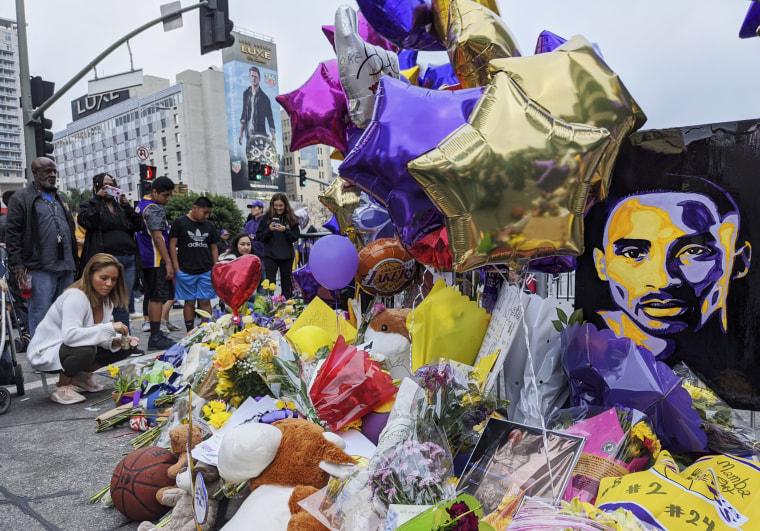 Image: Kobe Bryant memorial