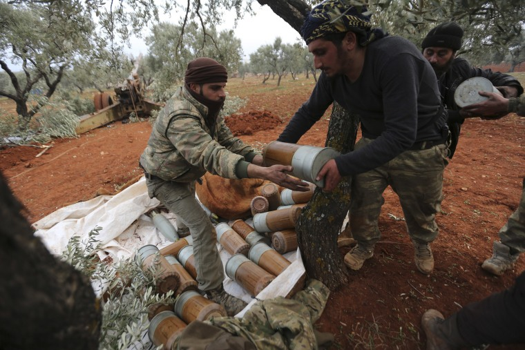 Image: Syrian rebel fighters