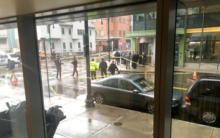 Police are responding to a report of a shooting near Brigham and Women's Hospital in Boston on Friday morning.