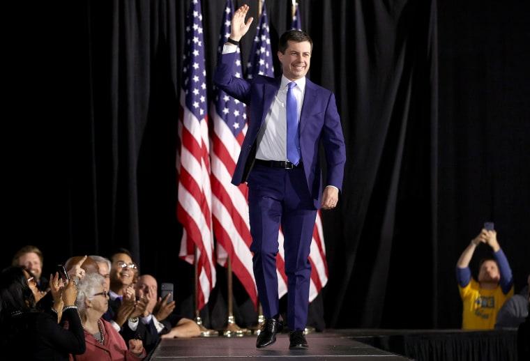 Image: Pete Buttigieg Holds Watch Party Event On Night Of Iowa Caucus