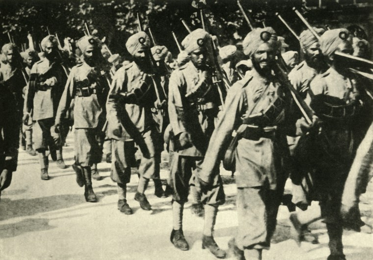 A Sikh regiment in France during World War One