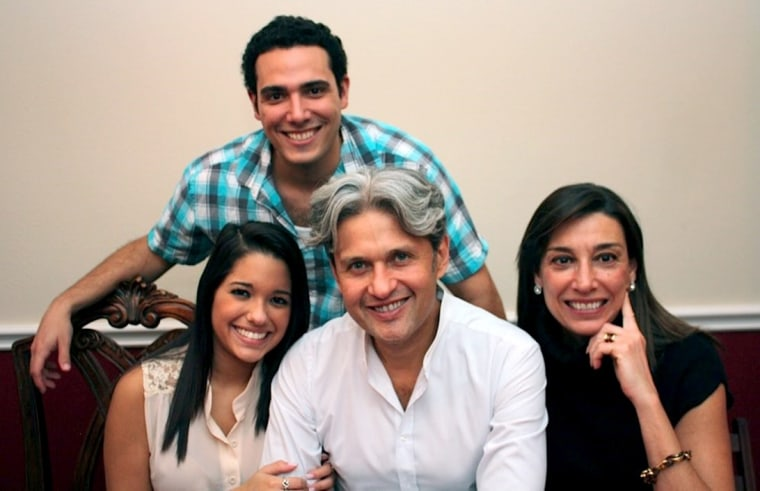 Jorge Toledo, former vice president of supply and marketing for Citgo, with his wife and two children.