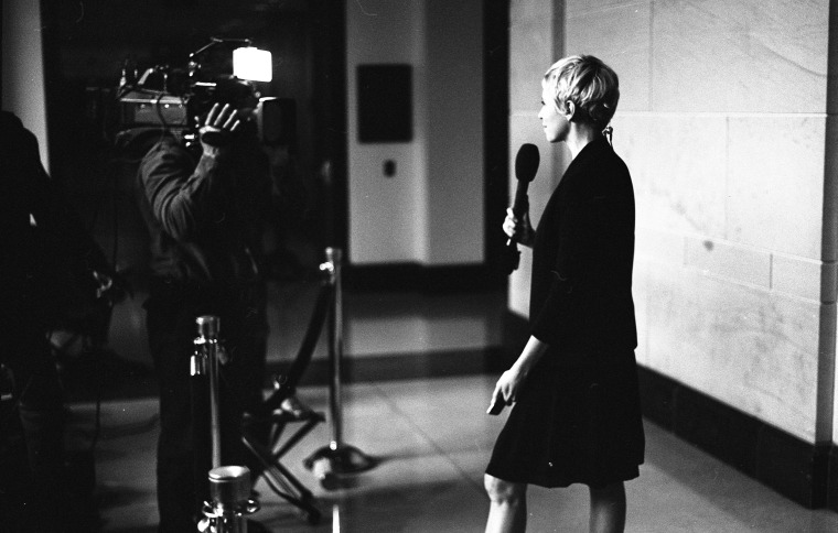 NBC News correspondent Leigh Ann Caldwell during an interview on Capitol Hill.