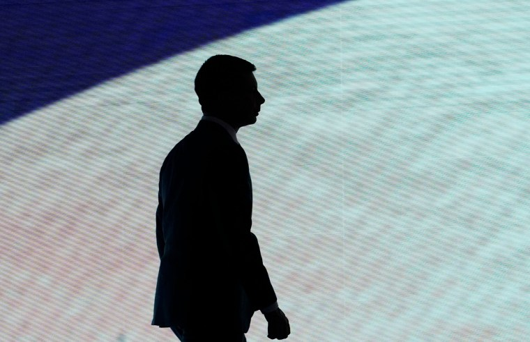 Image: Pete Buttigieg, Democratic 2020 U.S. presidential candidate former South Bend Mayor Pete Buttigieg walks offstage during a break at the eighth Democratic 2020 presidential debate in Manchester, New Hampshire, U.S.