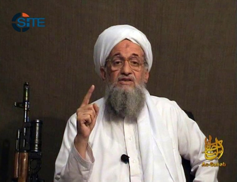 Image: Ayman al-Zawahri gives a eulogy for fellow al-Qaeda leader Osama bin Laden in a video released on jihadist forums on June 8