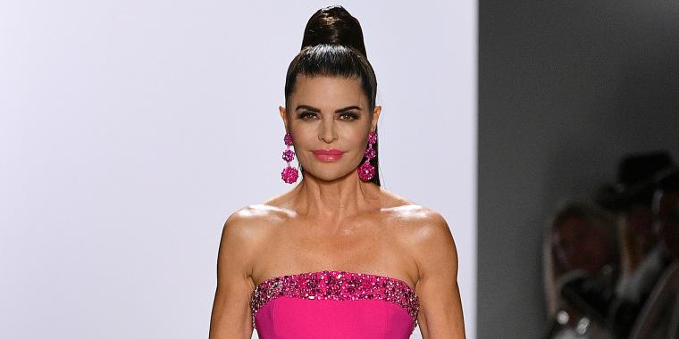 Lisa Rinna Dennis Basso New York Fashion Week