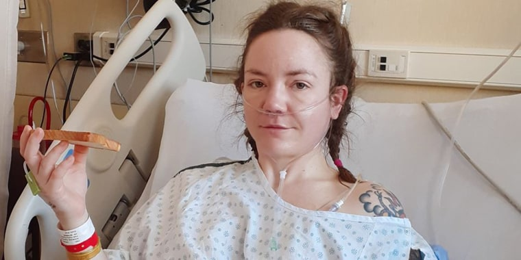 Cassidy Armstrong recovers after surgery in November. After first being diagnosed with liver cancer, tests revealed the mass was actually a parasite.