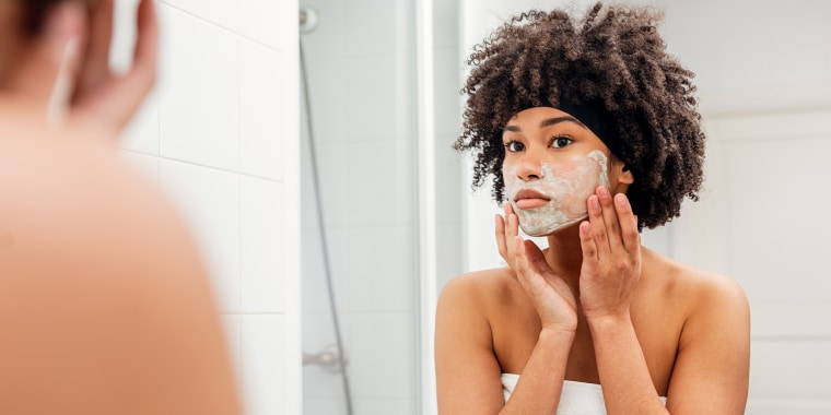 Exfoliating regularly can help clean out clogged pores and prevent breakouts.