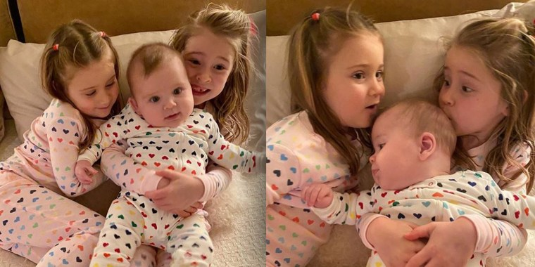 Jenna Bush Hager posted these cute pictures of her kids in matching pajamas!