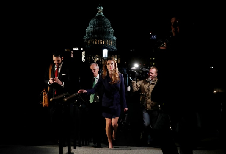 Image: Hope Hicks leaves the U.S. Capitol
