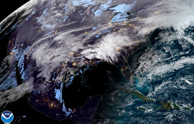 Image: The weather over the eastern United States on Feb. 10, 2020.