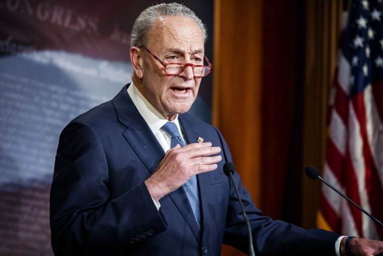 Image: Senate Minority Leader Chuck Schumer holds a press conference at the Capitol on Dec. 16, 2019.