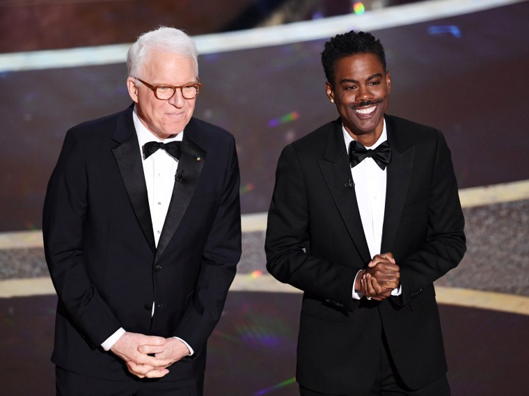 Image: Steve Martin and Chris Rock speak at the 92nd Annual Academy Awards in Hollywood