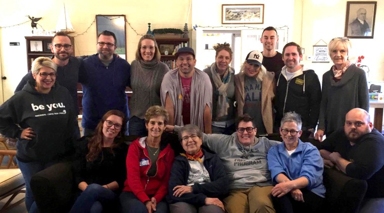 Image: Volunteer educators at a lesson-writing planning retreat for the state's LGBTQ pilot curriculum in Lacey Township, N.J., in March 2019.