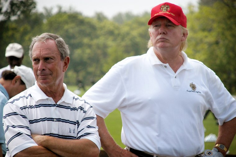 Image: Michael Bloomberg and Donald Trump attend an event at Trump National Golf Course in Briarcliff Manor, N.Y., in 2007.