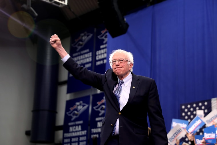 Image: Presidential Candidate Bernie Sanders Holds NH Primary Night Event In Manchester