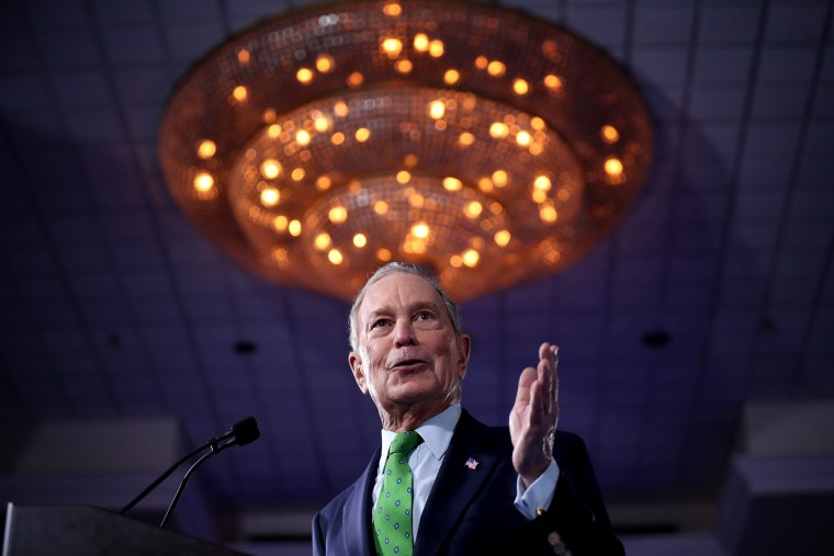 Image: Mike Bloomberg speaks at a campaign event in Aventura, Fla., on Jan. 26, 2020.