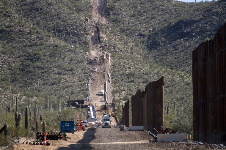 Gates in the border wall for flooding.