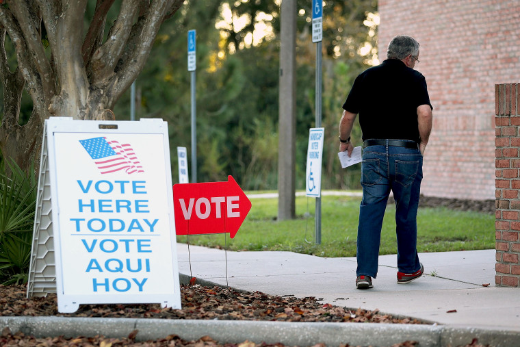 Voters Head To Polls As Early Voting Starts In Florida