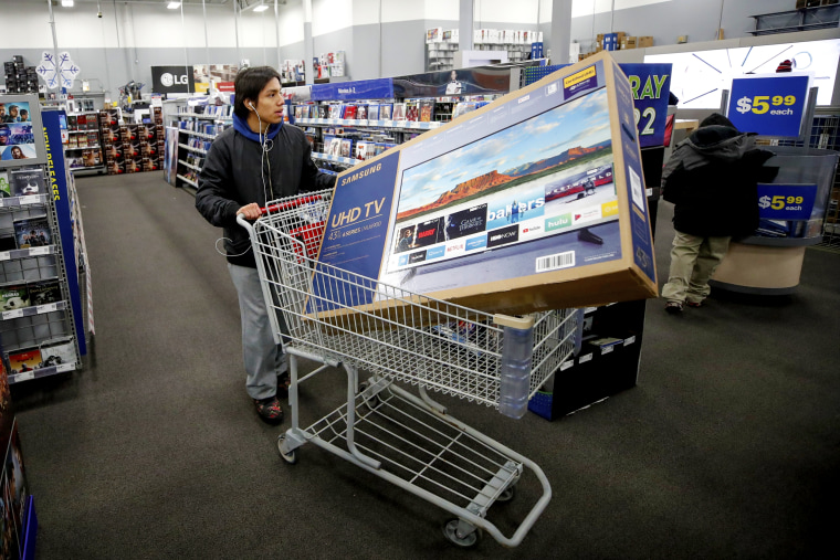 Black Friday Starts Early As Shoppers Hit The Stores On Thanksgiving Night