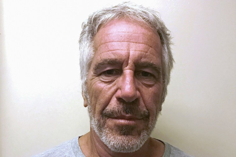 Image: Jeffrey Epstein appears in a photograph taken for the New York State Division of Criminal Justice Services' sex offender registry