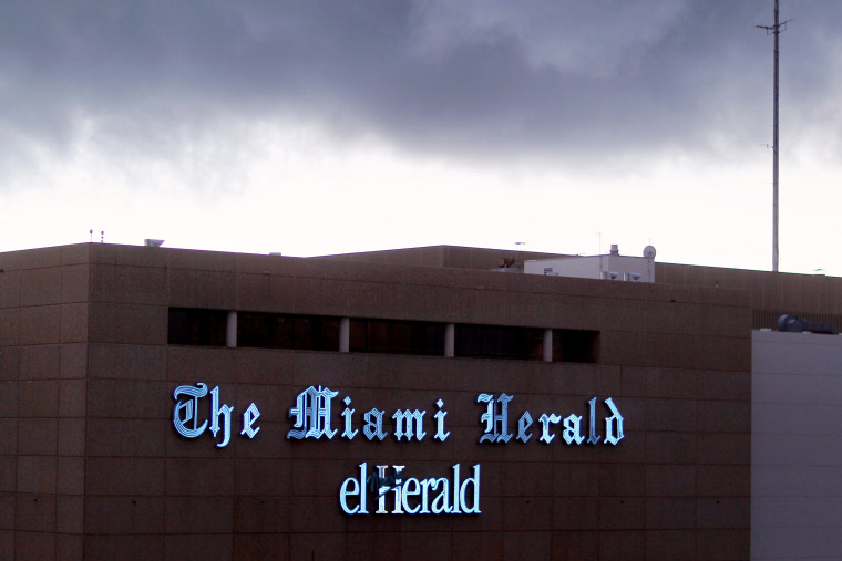 Image: The Miami Herald building, owned by newspaper publisher McClatchy, in Florida in 2011.