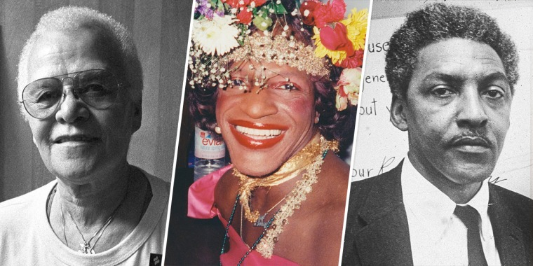 Storme DeLarverie, Marsha P. Johnson and Bayard Rustin