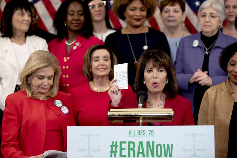 Image: Speaker Pelosi And Women's Caucus Speak To Media On Equal Rights Amendment
