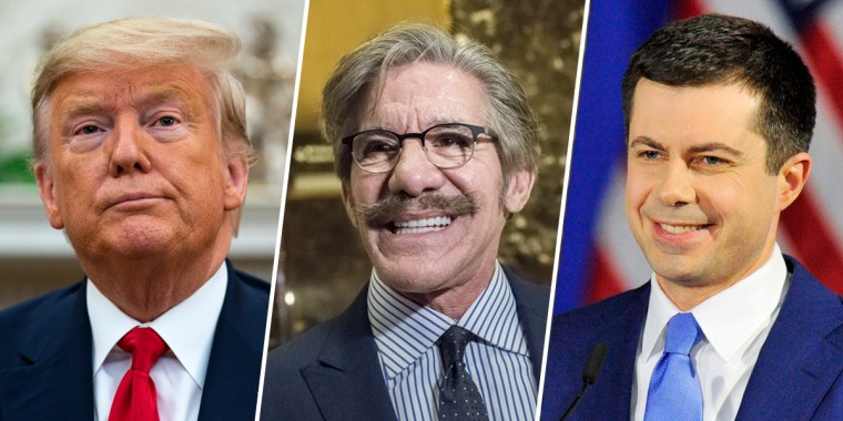 Image: Donald Trump, Geraldo Rivera, Pete Buttigieg