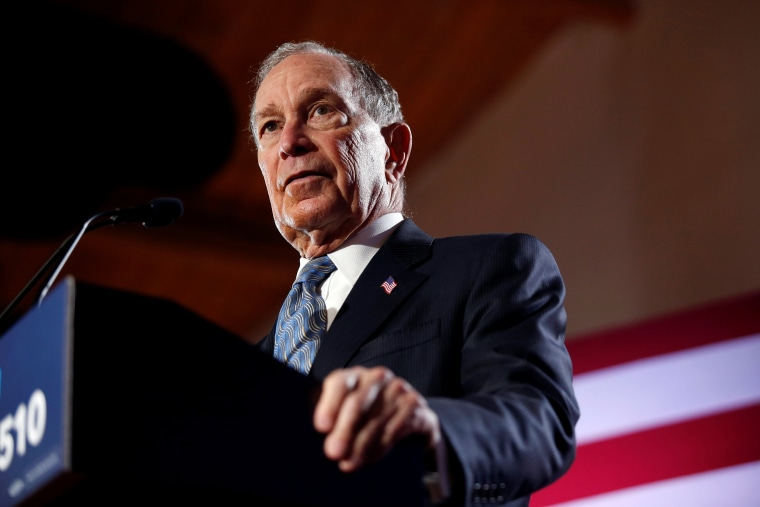 Image: Democratic presidential candidate Michael Bloomberg attends a campaign event in Chattanooga