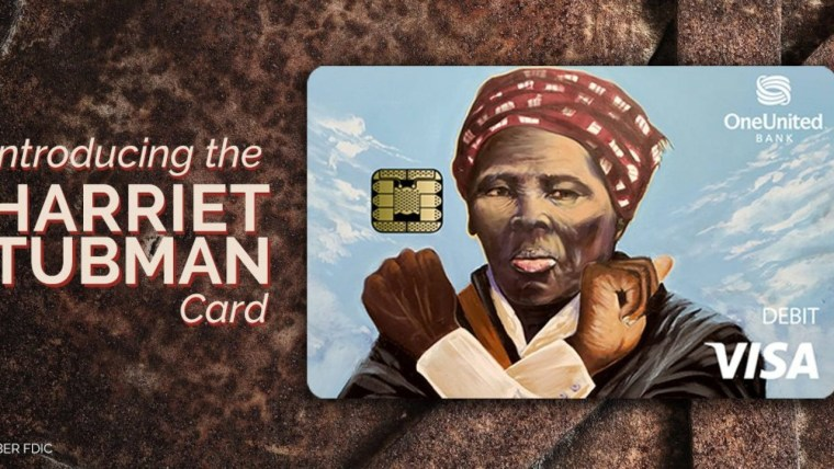 Image: One United Bank's Harriet Tubman card.