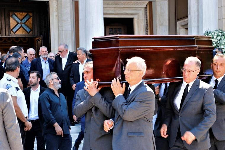 Funeral of Sokratis S. Kokkalis son of Greek business tycoon