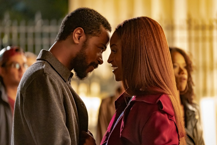 """Lakeith Stanfield and Issa Rae in love in """"The Photograph."""""""