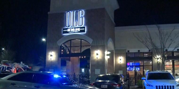 "Three people were shot inside a popular metro-Atlanta restaurant owned by ""Real Housewives of Atlanta"" star Kandi Burruss."