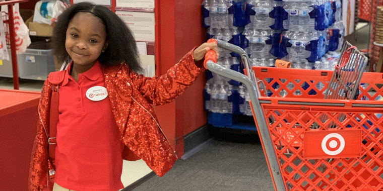 Brayden Lawrence and her friends took over a Target store in Atlanta for a day of scavenger hunts and shopping.