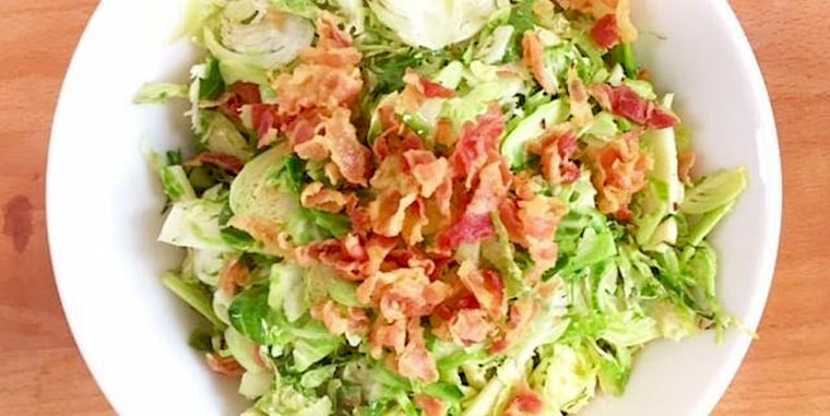 Valerie Bertinelli's Shaved Brussels Sprouts with Pancetta