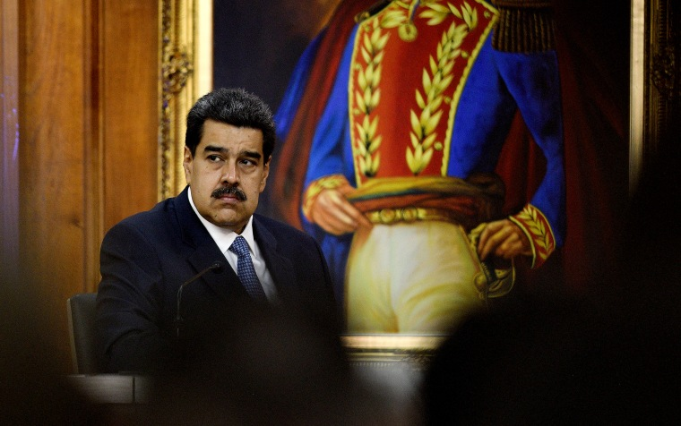Image: Venezuelan President Nicolas Maduro at the Palacio de Miraflores in Caracas on June 27, 2019.