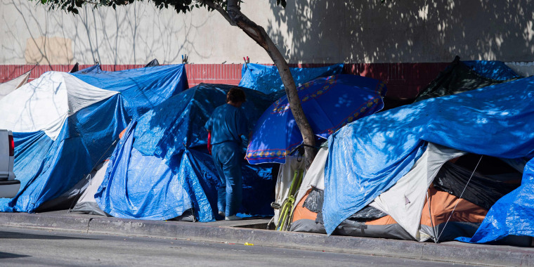 Image: Homeless, skid row, los angeles
