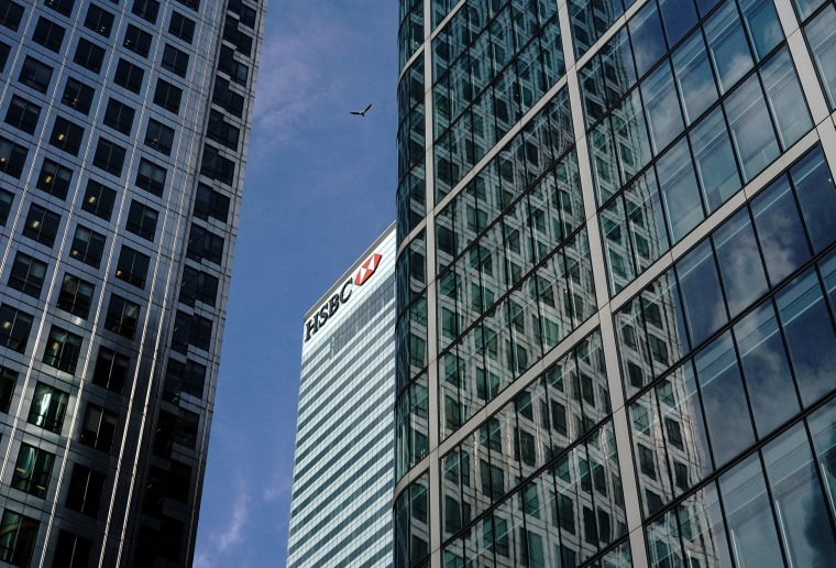 Image: The HSBC bank in the financial district of Canary Wharf in London, Britain, July 13, 2017.